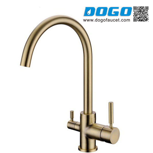 Deck Mounted Three Way Kitchen Faucet For Filtered Water